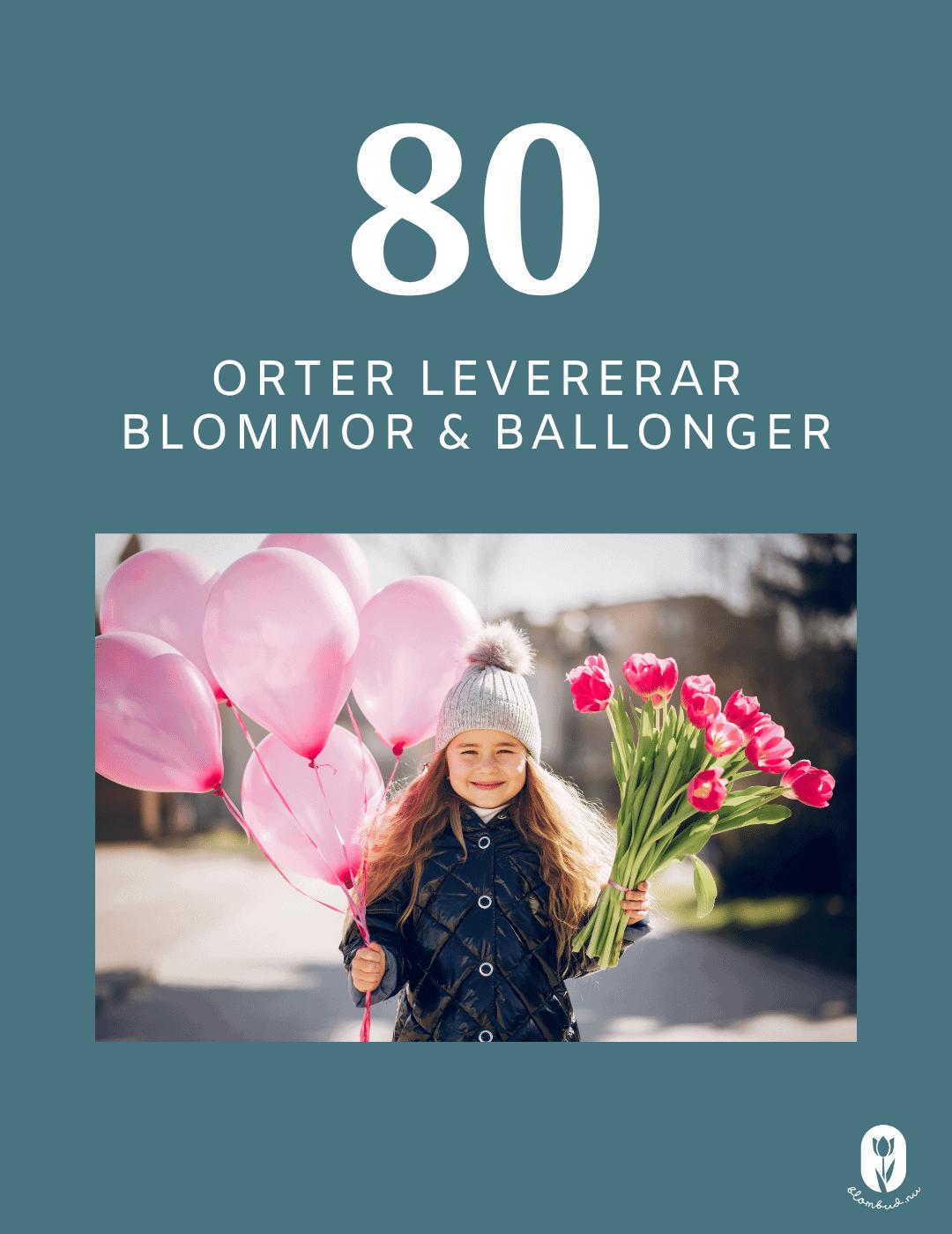 På 80 orter kan du skicka blommor med ballonger.